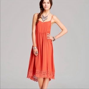 FREE PEOPLE •Easy Breezy• Crocheted Hem Dress (XS)